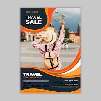 Folheto de venda itinerante abstrato com foto