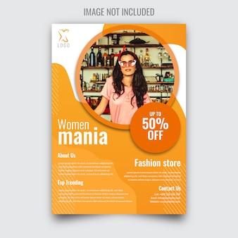 Folheto de venda para mulheres