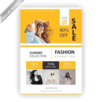 Folheto de vendas de moda