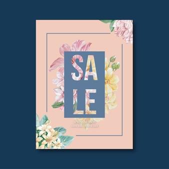 Folheto de vendas floral