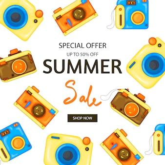 Folheto de verão de câmera