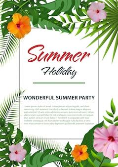 Folheto de verão na moda