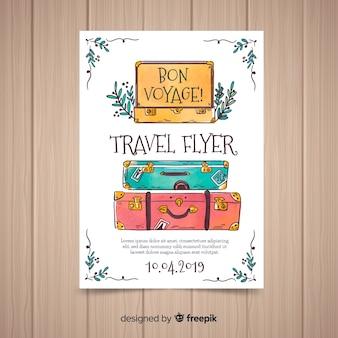 Folheto de viagem de malas