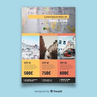 Folheto de viagem fotográfica