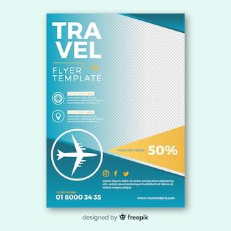 Folheto de viagem simples