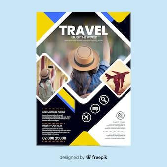 Folheto de viagens / cartaz com foto
