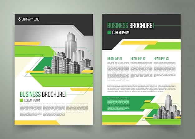Folheto, design de capa, brochura comercial