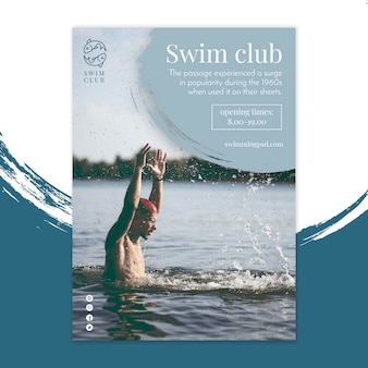 Folheto do clube de natação vertical