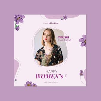 Folheto do dia internacional da mulher