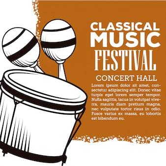 Folheto do festival de música clássica