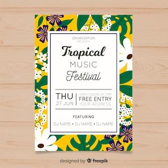 Folheto do festival de música