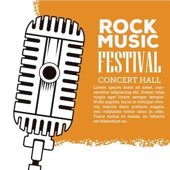 Folheto do festival rock musica