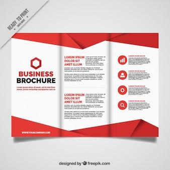 Folheto do negócio com detalhes vermelhos