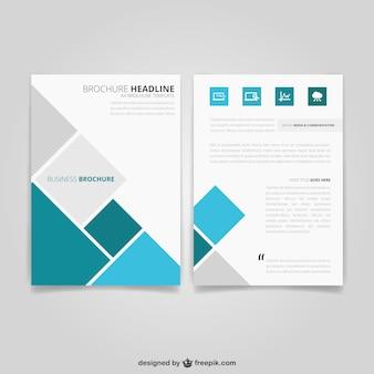 Folheto do negócio com quadrados