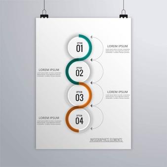 Folheto do negócio infográfico