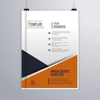 Folheto do negócio relatório anual
