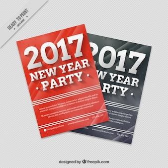 Folheto do partido de ano novo no estilo abstrato