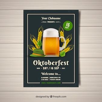Folheto do partido de oktoberfest