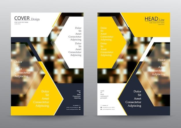 Folheto do relatório anual flyer design