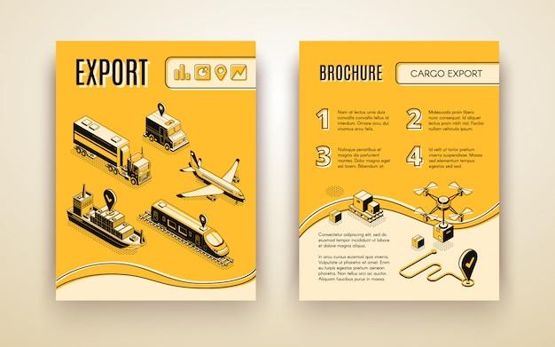 Folheto do serviço de transporte internacional