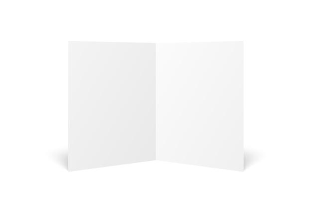 Folheto duplo branco em branco aberto