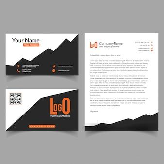 Folheto e conjunto de cartões de visita com novo vetor de design