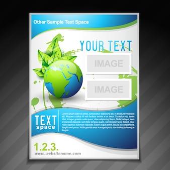Folheto ecológico folheto modelo ilustração