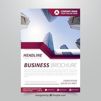 Folheto empresarial elegante