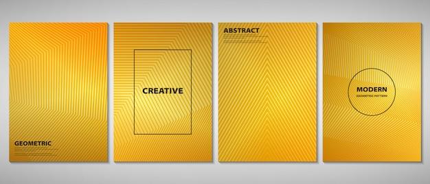 Folheto gradiente dourado abstrato