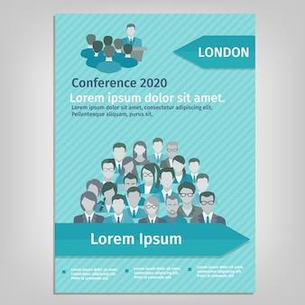 Folheto Ilustração da conferência