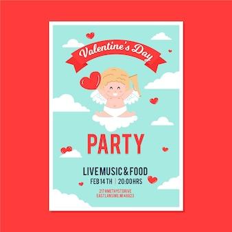 Folheto ilustrado da festa do dia dos namorados