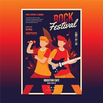Folheto ilustrado festival de música