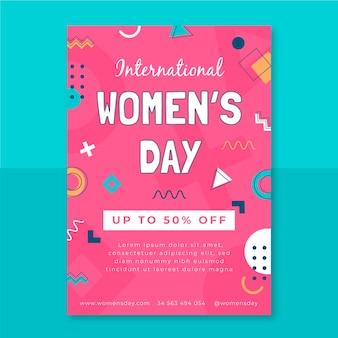 Folheto infantil do dia da mulher em memphis