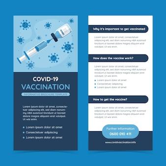 Folheto informativo de vacinação contra o coronavírus com ilustrações