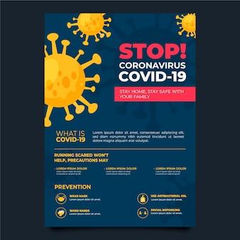 Folheto informativo sobre coronavírus