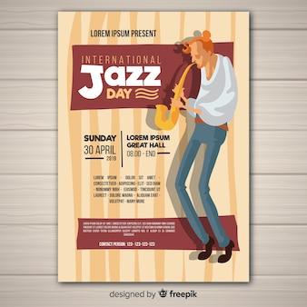 Folheto internacional do dia do jazz