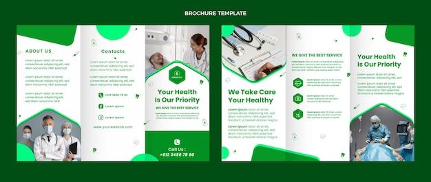 Folheto médico de design plano