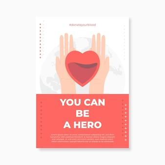 Folheto médico moderno e simples para doação de sangue