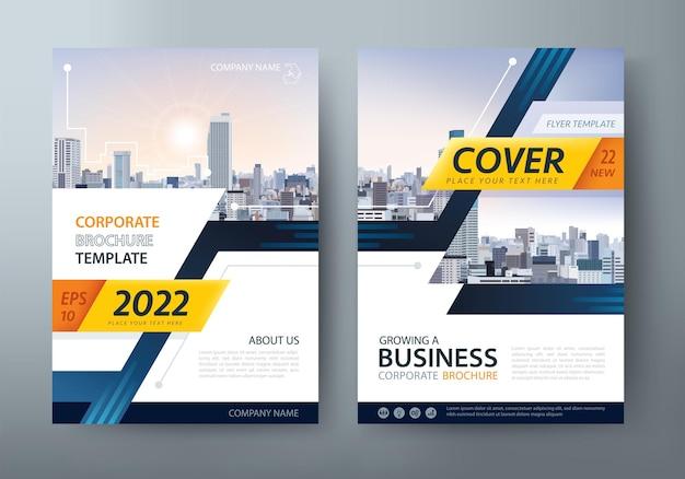 Folheto, modelos de capa de livro, layout em tamanho a4.