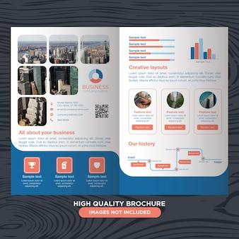 Folheto moderno e profissional para negócios