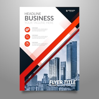 Folheto moderno para negócios em estilo abstrato