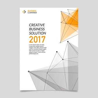 Folheto negócios com poligonais shapes