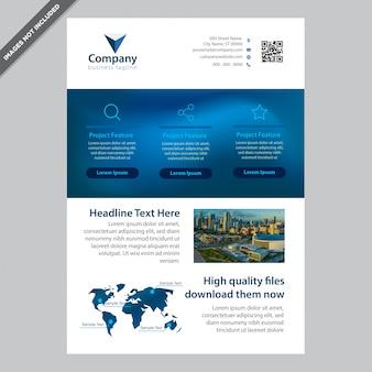 Folheto profissional da blue color company