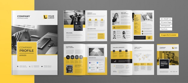Folheto profissional ou apresentação comercial