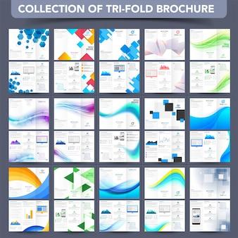 Folheto profissional tri-fold, coleção de folhetos.