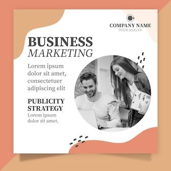 Folheto quadrado de marketing empresarial