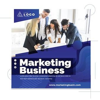 Folheto quadrado de negócios de marketing