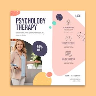 Folheto quadrado de terapia psicológica