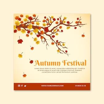 Folheto quadrado do meio do outono