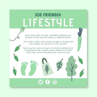 Folheto quadrado ecológico